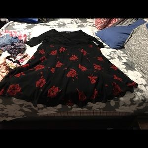 Igigi Black Roses Floral Dress